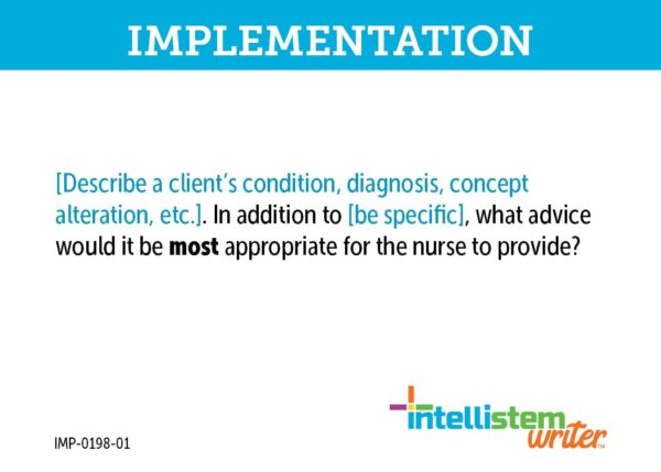 Intellistem Writer Implementation Card Front Example