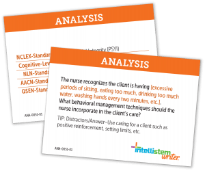 Nursing Tests Analysis Cards